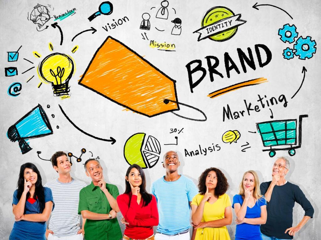 branding illustration avec des gens contents