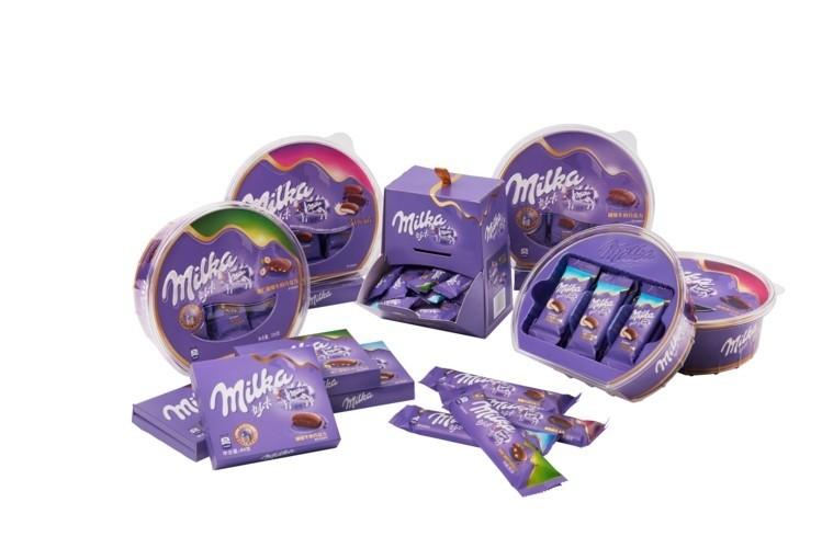 packaging Milka couleur entreprise