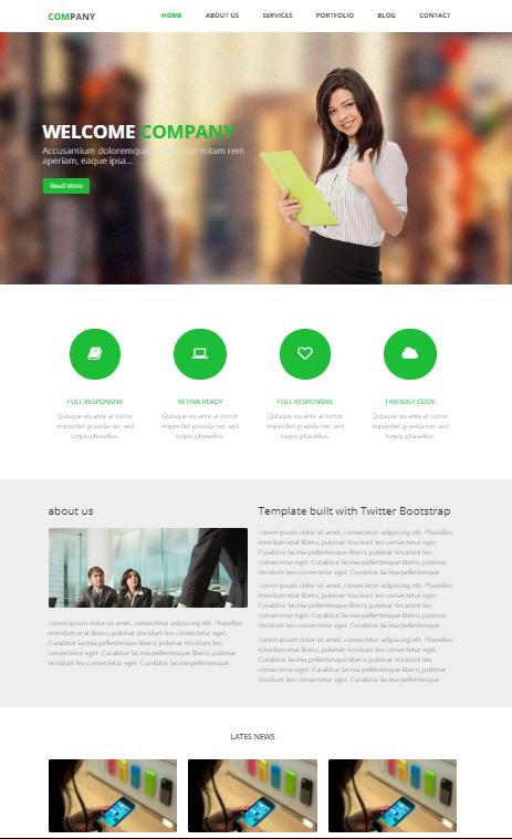 exemple site design épuré