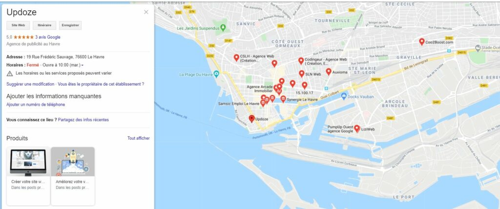 google maps my business faire connaitre son site web