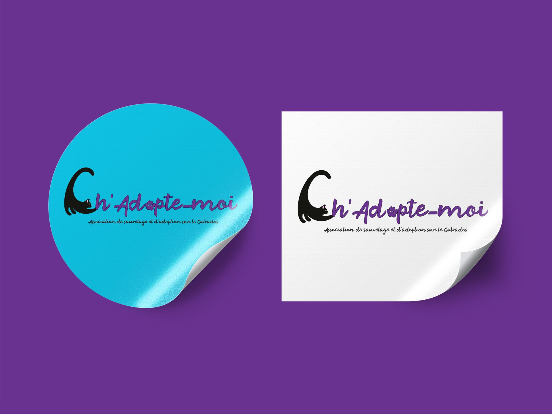 logo association ch'adopte moi