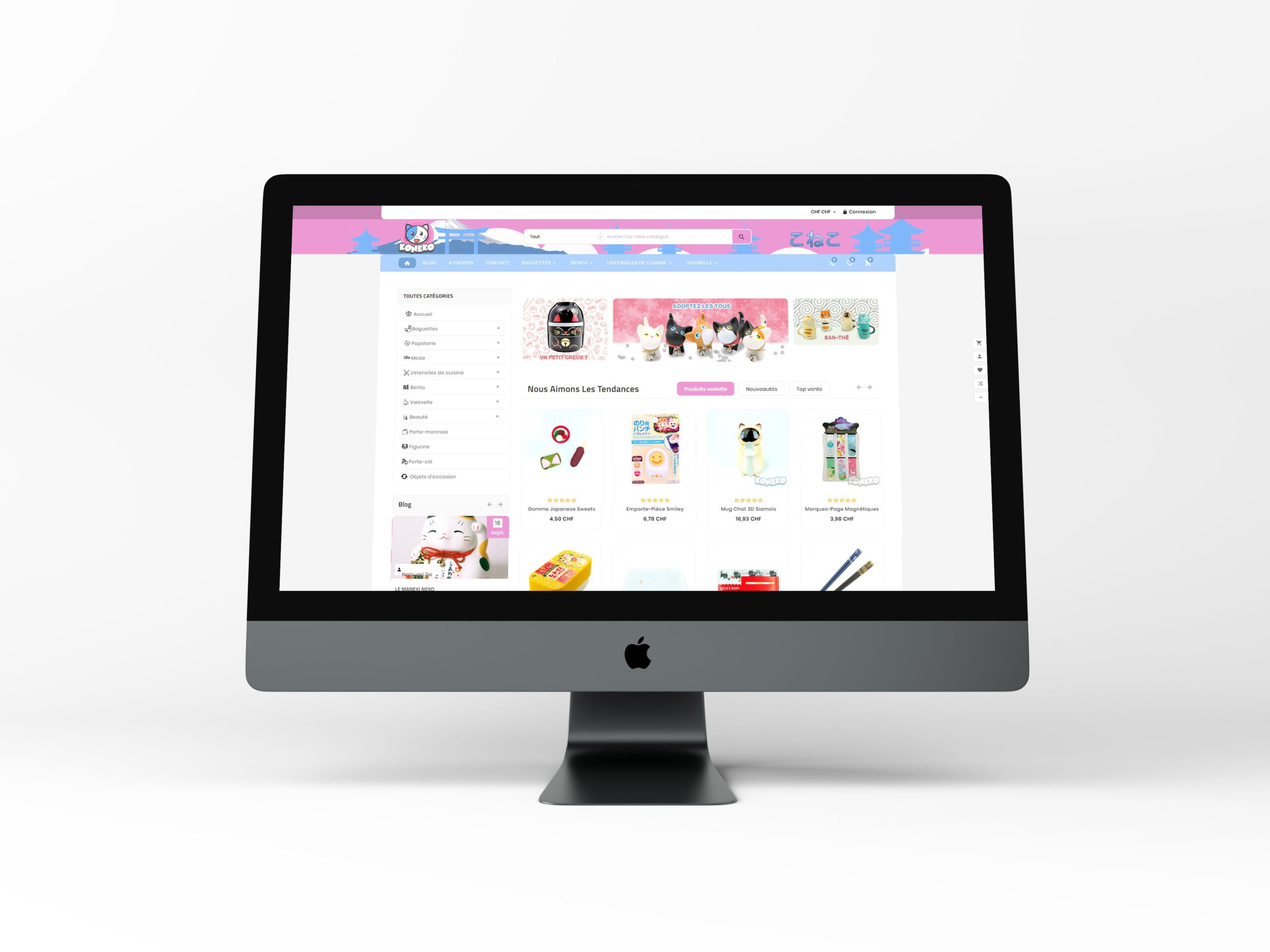 site web e-comemrce sous prestashop koneko
