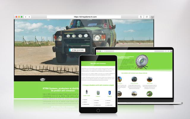 création de site internet site vitrine xtrm systems