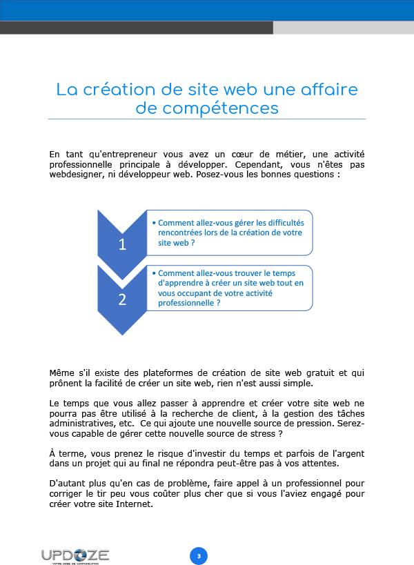 livre blanc inconvénients créer site web soi-même