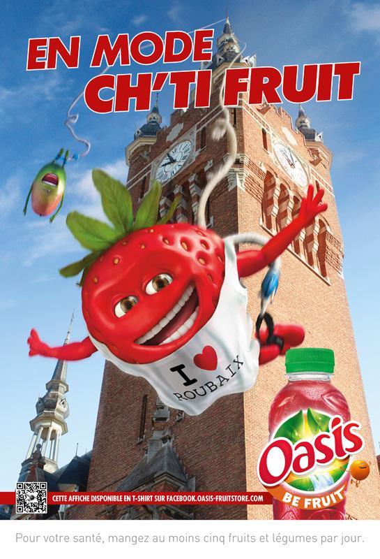 créer affiche publicitaire efficace oasis qrcode