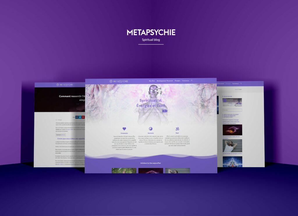 webdesign création de site web wordpress blog spirituel métapsychie