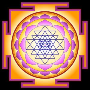 géométrie sacrée création de logo sri yantra