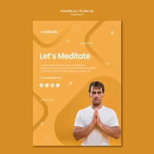 flyer méditation bien-être