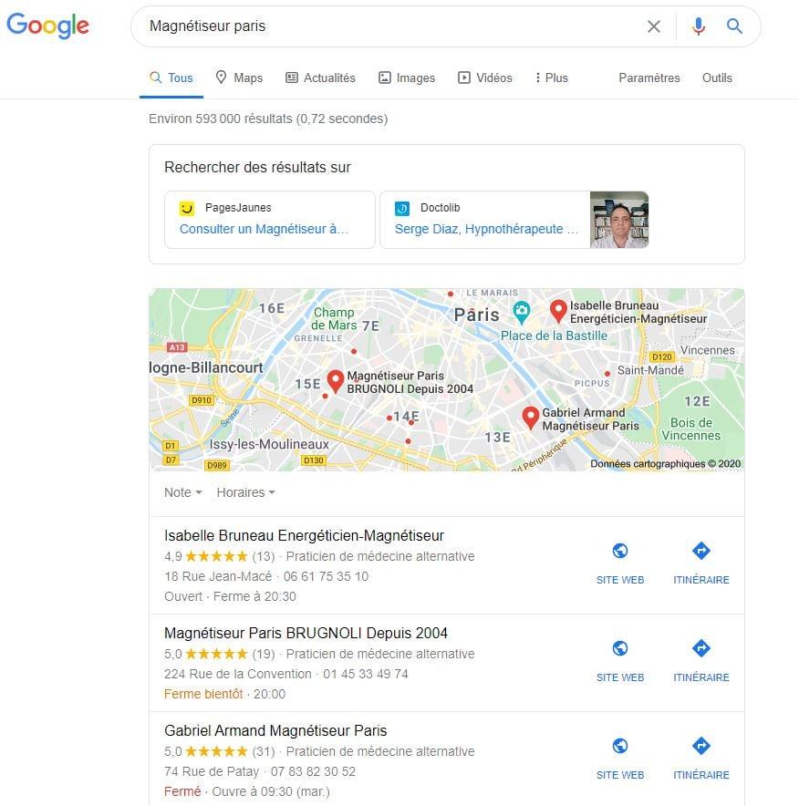 référencement naturel google se faire connaitre thérapeute