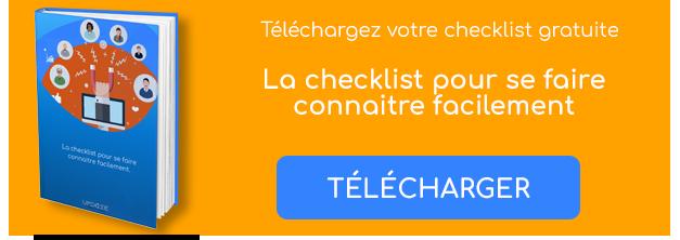 CTA téléchargement checklist se faire connaitre