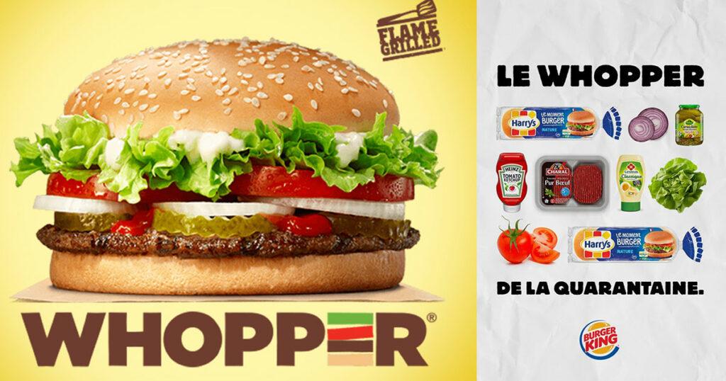 communiquer crise sanitaire communication burger king recette burger