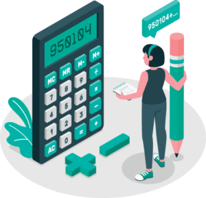 calcul illustration femme devis en ligne communication