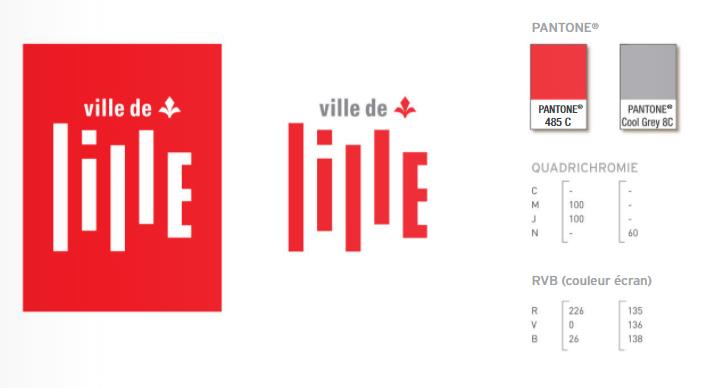 créer une charte grapique percutante couleur du logo de lille