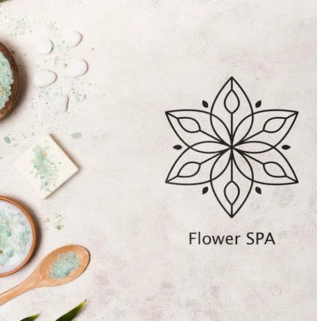 logo bien-être spirituel fleur de lotus création de logo