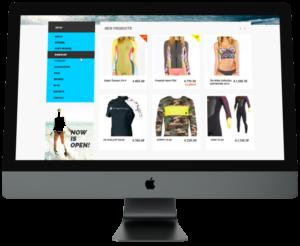 site internet d'e-commerce boutique en ligne sur ordinateur
