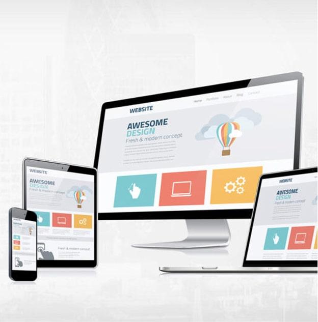 écran d'ordinateur création de site web professionnel