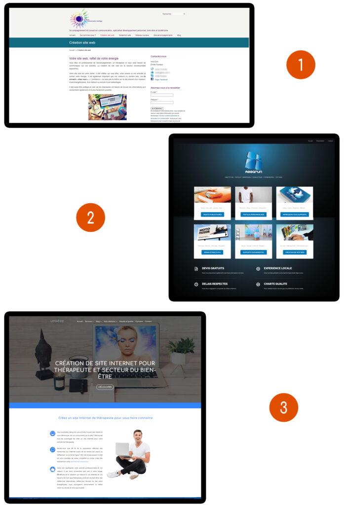 création de site web pour praticien bien être analyse du design de vos prestataire