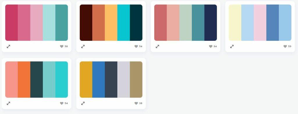 choix de palette de couleur webdesign